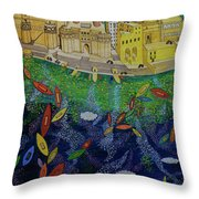 Ferry To The City Of Gold II Throw Pillow