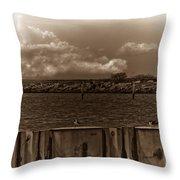 Ferry's End Throw Pillow