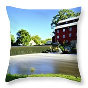 Fertile Dam Throw Pillow