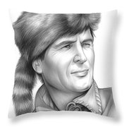 Fess Parker Throw Pillow