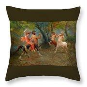 Festival Of Centaurs Throw Pillow