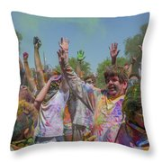 Festival Of Color Throw Pillow
