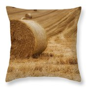 Festival Of Hay Balls In Scotland Throw Pillow