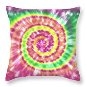 Festival Spiral Bright Colors- Art By Linda Woods Throw Pillow