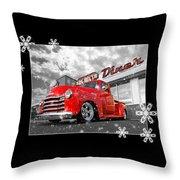 Festive Chevy Truck Throw Pillow