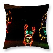 Festive Crab Decorations Throw Pillow