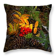 Festive Elements Throw Pillow