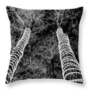 Festive Forrest Throw Pillow