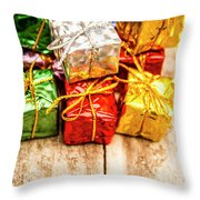 Festive Greeting Gifts Throw Pillow