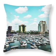 Festive Tampa Bay Throw Pillow