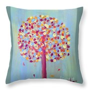 Festive Tree Throw Pillow