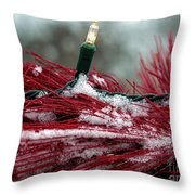 Festive With The Snow Throw Pillow