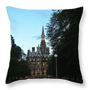 Fettes College West Gate Throw Pillow