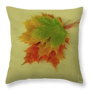 Feuilles D'automne I / Fall Leaves I Throw Pillow