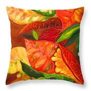 feuilles de Floride  Throw Pillow