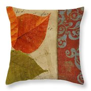 Feuilles II Throw Pillow