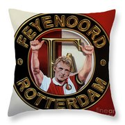 Feyenoord Rotterdam Painting Throw Pillow