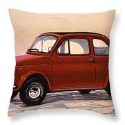 Fiat 500 1957 Painting Throw Pillow