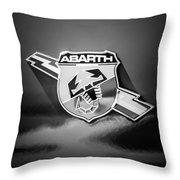 Fiat Abarth Emblem -ck1611bw2 Throw Pillow