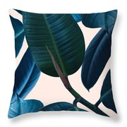 Ficus Elastica 2 Throw Pillow