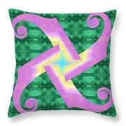 Fiddle-head Pattern Throw Pillow