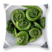 Fiddleheads From Above Throw Pillow