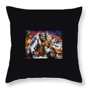 Fiddler From The Sky Throw Pillow