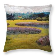 Fiddlers Ridge Marsh Throw Pillow