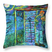Fiddling At Midnight's Farm House Throw Pillow