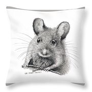 Field Mouse Or Meadow Vole Throw Pillow