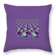 Field Of African Violets Throw Pillow