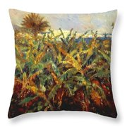 Field Of Banana Trees 1881 Throw Pillow