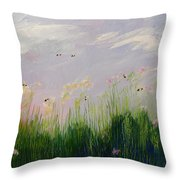 Field Of Bee's Throw Pillow