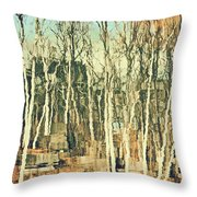 Field Of Birch Throw Pillow