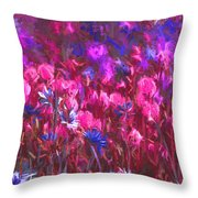 Field Of Dreams Abstract Throw Pillow