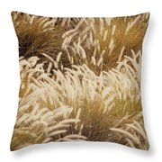 Field Of Feathers Throw Pillow