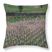 Field Of Flags - Gotg Arial Throw Pillow