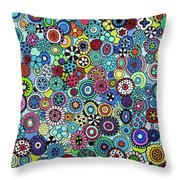 Field Of Blooms Throw Pillow