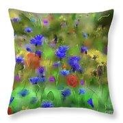 Field Of Flowers Throw Pillow