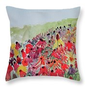 Field Of Flowers Throw Pillow