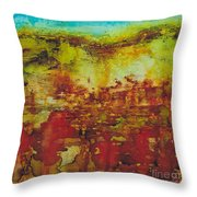 Field Of Flowers Under The Dew Throw Pillow