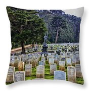 Field Of Heroes Throw Pillow