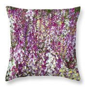 Field Of Multi-colored Flowers Throw Pillow