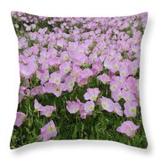 Field Of Primrose Throw Pillow