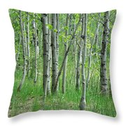 Field Of Teens Throw Pillow