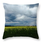 Field Of Weeds Throw Pillow