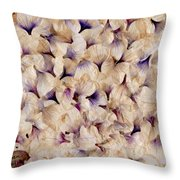 Field Of White Lies Throw Pillow
