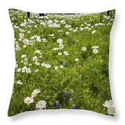 Field Of White Poppies Throw Pillow