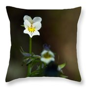 Field Pansy Throw Pillow