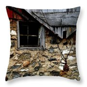Field Stone Barn Throw Pillow